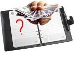 Записная книжка и деньги