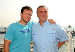 Марин Стрел и его сын Борут