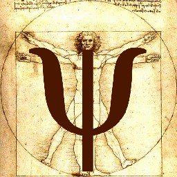 Буква Пси на фоне картины Леонарда Да Винчи