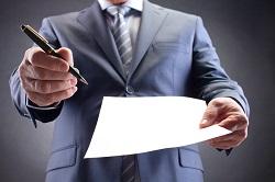 Ручка и бумага для подписи