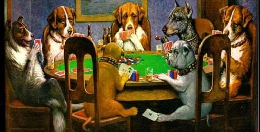 картина собаки играют в карты
