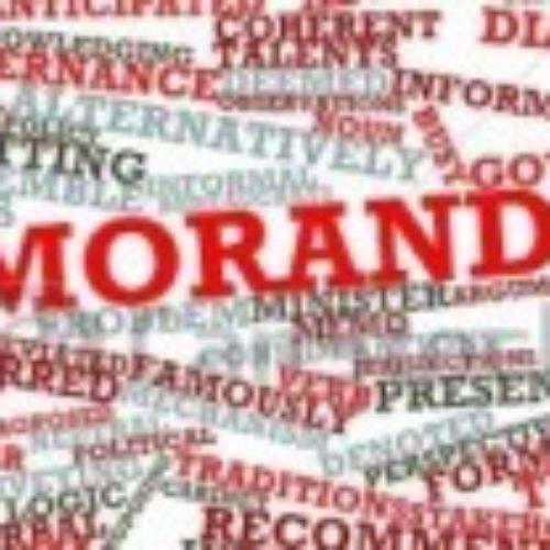 Меморандум, как инструмент переговоров