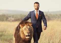 Человек со львом