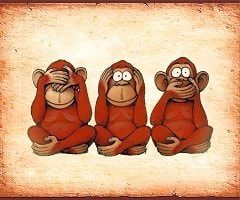 три обезьяны не вижу не слышу