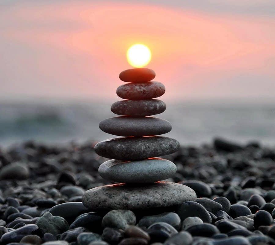 камни море солнце