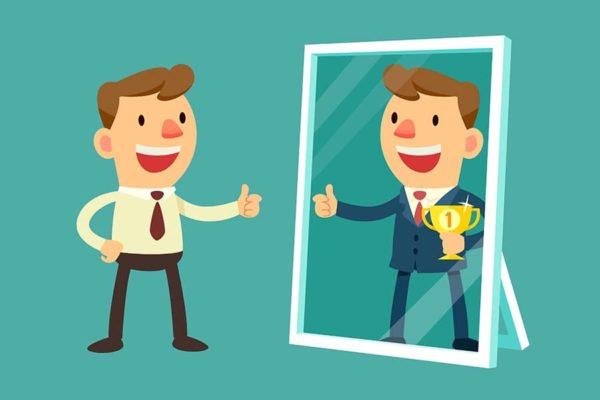 другое отражение в зеркале